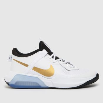 Nike White & Gold Air Zoom Crossover Unisex Youth