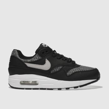 Nike Black & Grey Air Max 1 Se Unisex Youth