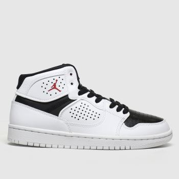 nike jordan white & black access trainers youth