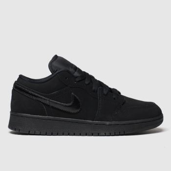 Nike Jordan Black Air Jordan 1 Low c2namevalue::Unisex Youth#promobundlepennant::£5 OFF BAGS
