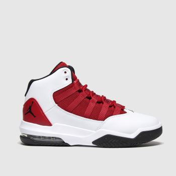 nike jordan white & red jordan max aura trainers youth