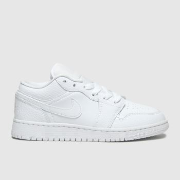 Nike Jordan White Air Jordan 1 Low Unisex Youth