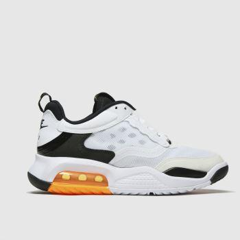 Nike Jordan White & Black Air Max 200 Unisex Youth#