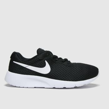 Nike Black & White Tanjun Unisex Youth#