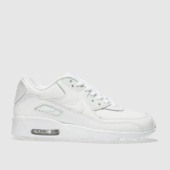 Nike white air max 90 trainers youth