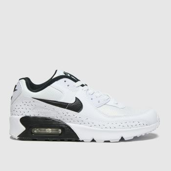 Nike White & Black Air Max 90 Unisex Youth#