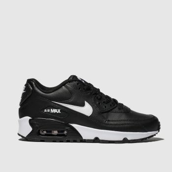 Nike Black & White Air Max 90 Unisex Youth