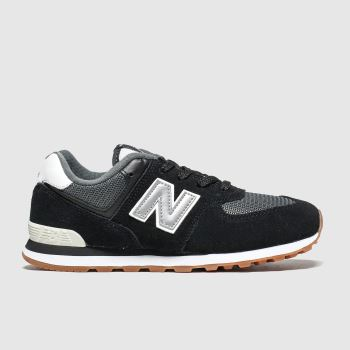 New Balance Black & Grey 574 Unisex Youth#