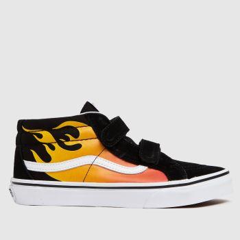 Vans Black & Orange Sk8-mid Reissue V Unisex Youth