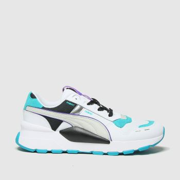 PUMA White & Green Rs 2.0 Futura Unisex Youth#