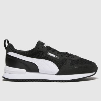 PUMA Black & White R78 Unisex Youth