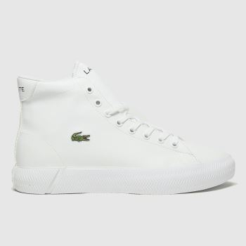 Lacoste White Gripshot Mid Yth Unisex Youth#