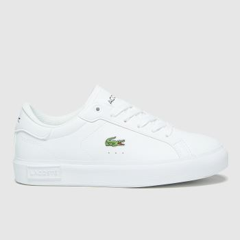 Lacoste White Powercourt Unisex Youth