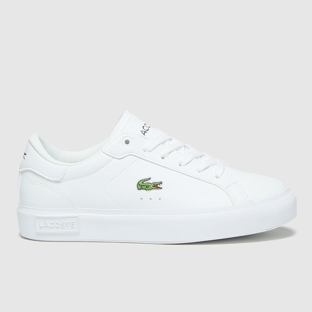 Lacoste White Powercourt Trainers Youth