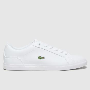 Lacoste White & Green Lerond Unisex Youth#