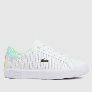 Lacoste White & Green Powercourt Unisex Youth