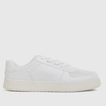 schuh White Mighty Lace Up Unisex Youth