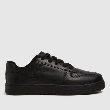 schuh Black Mighty Lace Up Unisex Youth