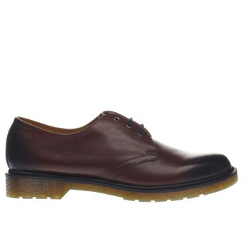 DR MARTENS BURGUNDY 1461 3 EYE SHOES