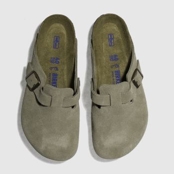 Birkenstock Beige Boston Mens Shoes