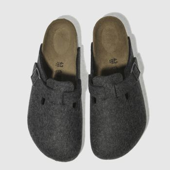 Birkenstock Dark Grey Boston Mens Shoes