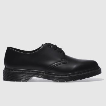 Dr Martens Black 1461 Mono Mens Shoes#