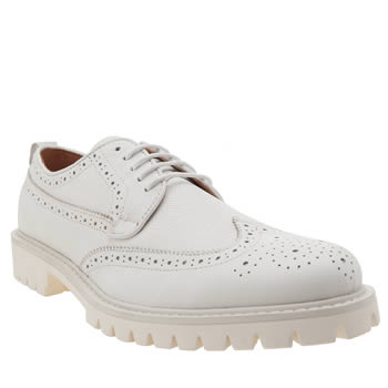 PETER WERTH WHITE OLDMAN BROGUE SHOES