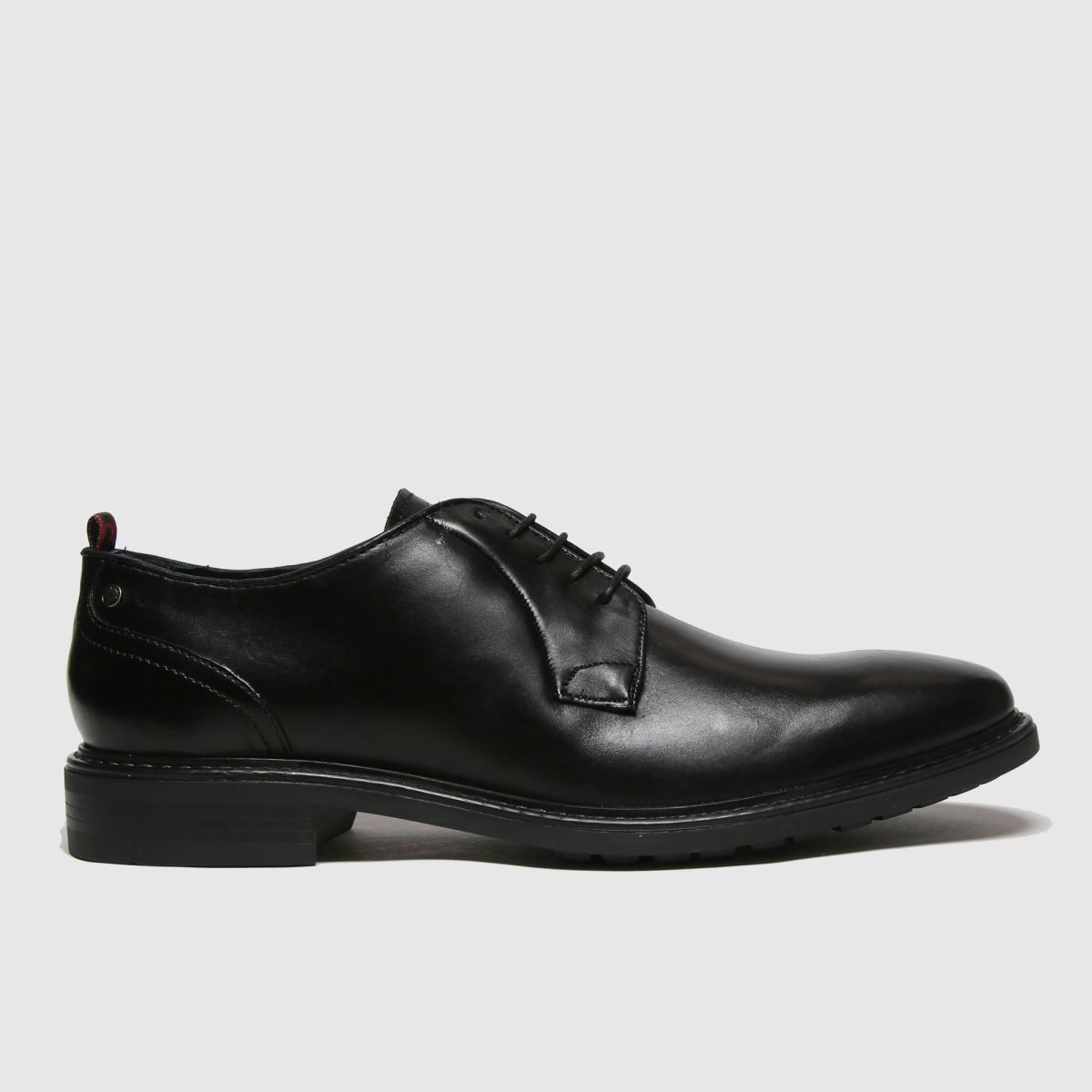 Base London Black Punch Gibson Shoes