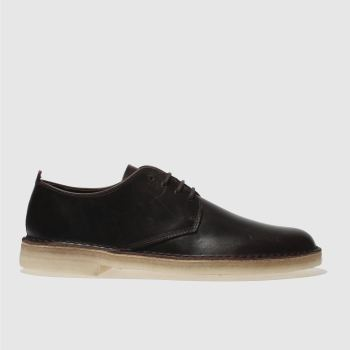 Clarks Originals Dark Brown Desert London Mens Shoes