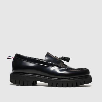 tommy hilfiger black chunky dress loafer shoes
