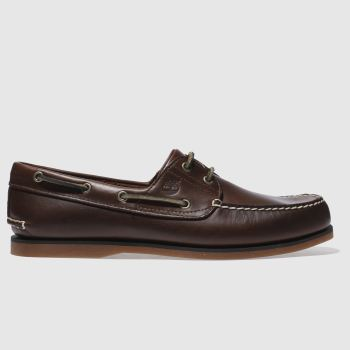 Timberland Brown Classic 2 Eye Boat Mens Shoes#