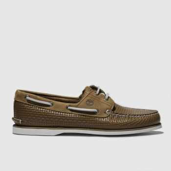 Timberland Tan Classic 2 Eye Boat Mens Shoes