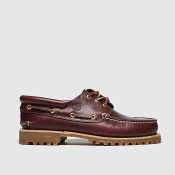 Timberland Burgundy Classic 3 Eye Boat Mens Shoes