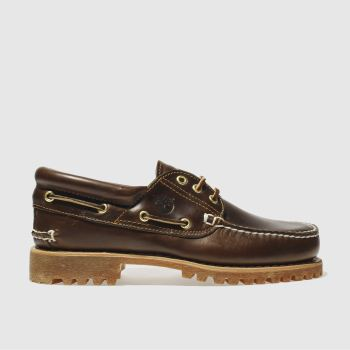 Timberland Brown Classic 3 Eye Boat Mens Shoes