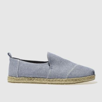 Toms Blue Deconstructed Alpargata Mens Shoes