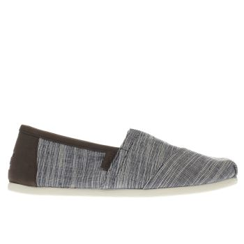 TOMS NAVY & DARK BROWN SEASONAL CLASSIC SHOES
