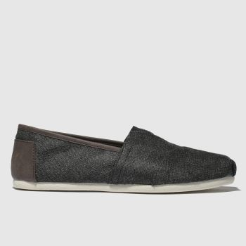toms grey alpargata trim shoes