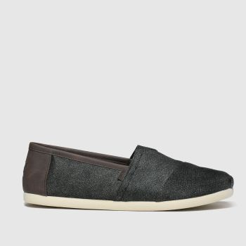 Toms Dark Grey Alpargata Trim Mens Shoes