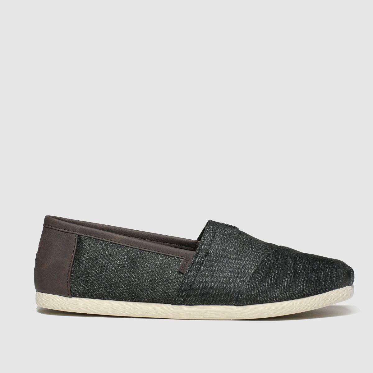 Toms Dark Grey Alpargata Trim Shoes