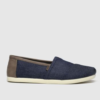 Toms Navy & Stone Alpargata Trim Mens Shoes