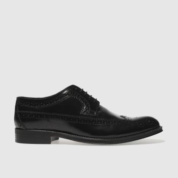 Ikon Black Nottingham Brogue Mens Shoes