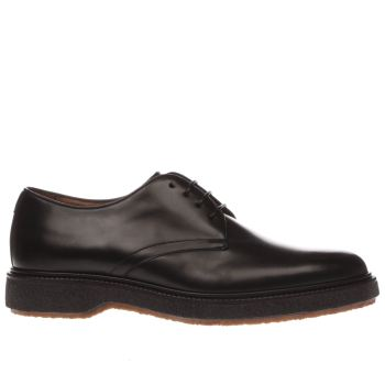 Red Or Dead Black Mr Morgan Plain Derby Mens Shoes