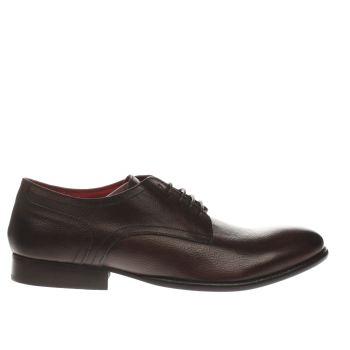 Men Base London Fashionista Gibson Shoes Dark Brown