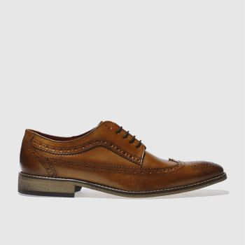 base london tan county brogue 2 shoes
