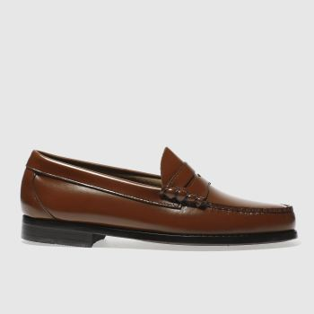 Bass Brown Larson Moccasin Penny Mens Shoes
