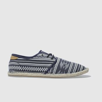 Toms Navy & White Diego Mens Shoes