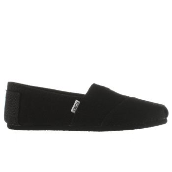 Toms Black Classic Burlap Mens Shoes
