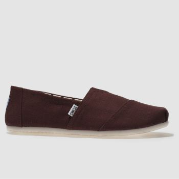 Toms Burgundy Classic Venice Mens Shoes