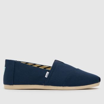Toms Navy Classic Slip Mens Shoes#