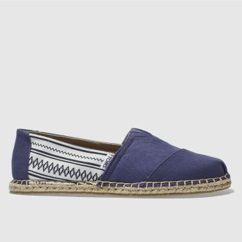 Toms Navy & White Classic Mens Shoes